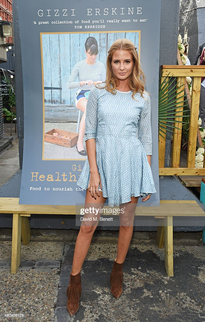 Millie Mackintosh attends the book launch party for 'Gizzi's Healthy Appetite Food To Nourish The Body And Feed The Soul' by chef Gizzi Erskine at...