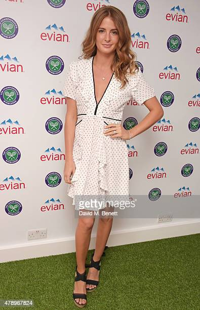Millie Mackintosh attends the evian Live Young suite on the opening day of Wimbledon at the All England Lawn Tennis and Croquet Club on June 29 2015...