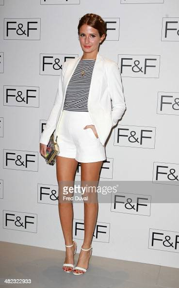 Millie Mackintosh attends the FF aw14 Fashion show at Somerset House on April 3 2014 in London England