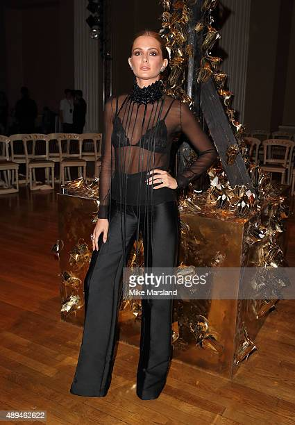 Millie Mackintosh attends the Giles show during London Fashion Week Spring/Summer 2016/17 on September 21 2015 in London England