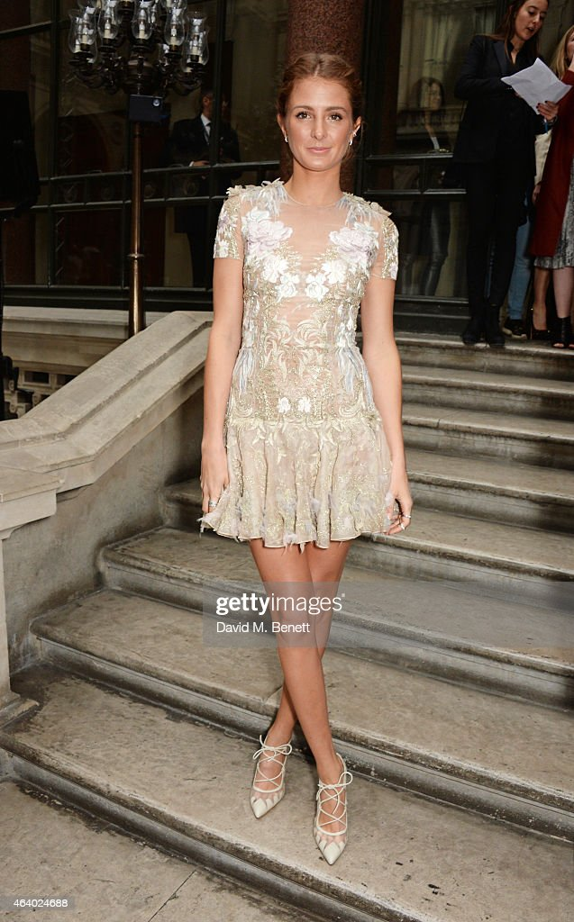 Millie Mackintosh attends the Julien Macdonald show during London Fashion Week Fall/Winter 2015/16 at British Foreign and Commonwealth Office on...