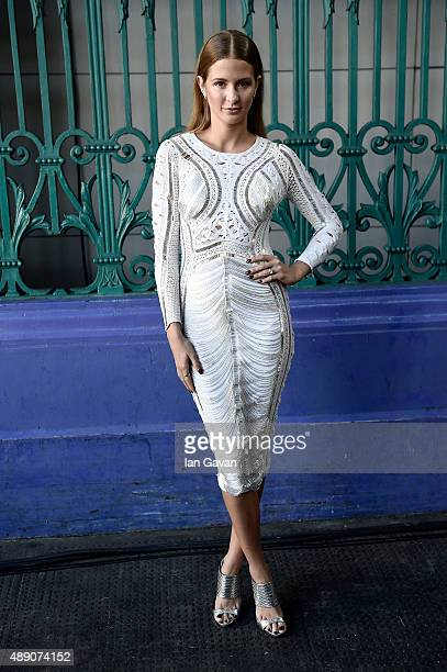 Millie Mackintosh attends the Julien Macdonald show during London Fashion Week SS16 on September 19 2015 in London England