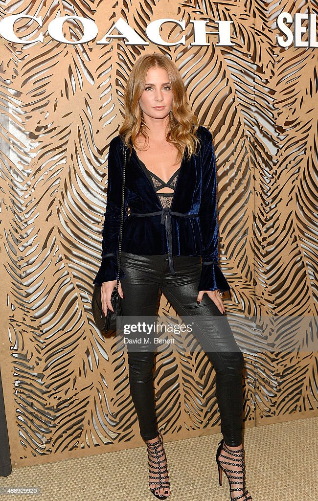Millie Mackintosh attends the launch of Coach at Selfridges hosted by Stuart Vevers at Selfridges on September 18 2015 in London England