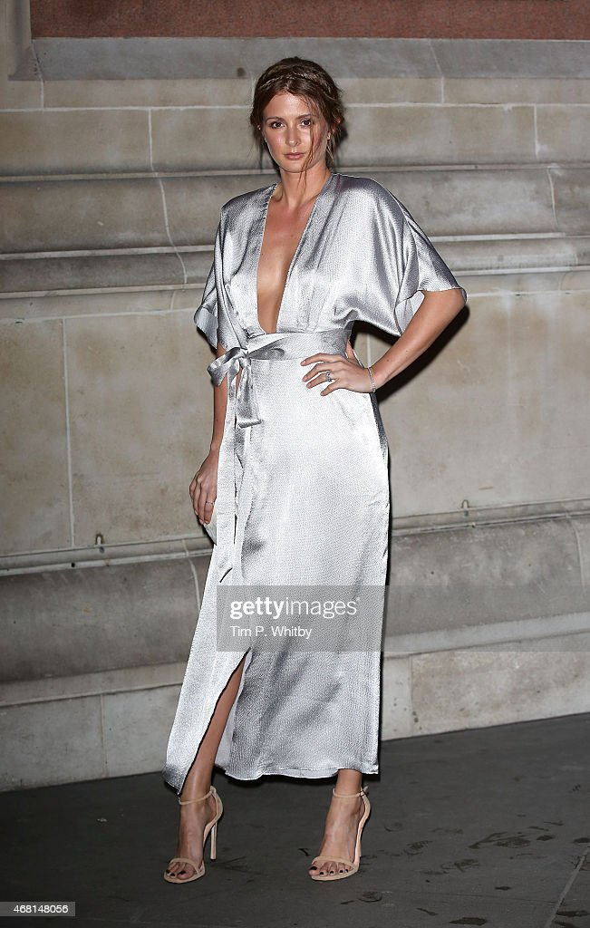 Millie Mackintosh attends the Samsung BlueHouse private view of the Alexander McQueen Savage Beauty exhibition at Victoria Albert Museum on March 30...