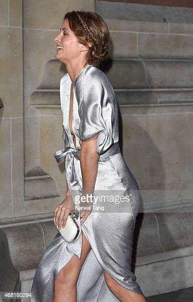 Millie Mackintosh attends the Samsung BlueHouse private view of the Savage Beauty Exhibition celebrating Alexander McQueen at Victoria Albert Museum...