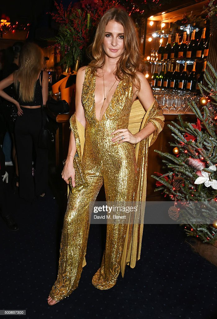 Millie Mackintosh attends the Sunday Times Style Christmas Party at Tramp on December 9 2015 in London England