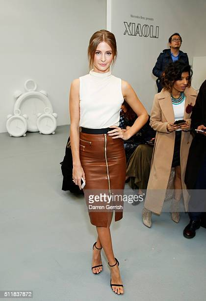 Millie Mackintosh attends the Xiao Li AW 2016 Collections show presented by MercedesBenz at Brewer Street Car Park on February 23 2016 in London...
