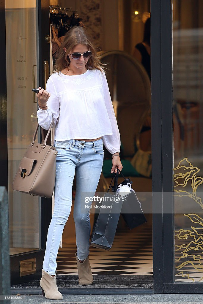 <a gi-track='captionPersonalityLinkClicked' href=/galleries/search?phrase=Millie+Mackintosh&family=editorial&specificpeople=7864153 ng-click='$event.stopPropagation()'>Millie Mackintosh</a> is pictured shopping at Petits Bisous on Kings's Road on August 27, 2013 in London, England.