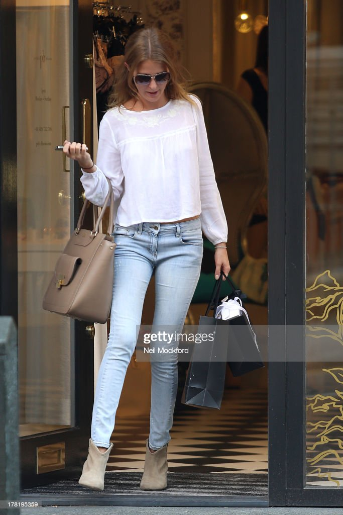 Millie Mackintosh is pictured shopping at Petits Bisous on Kings's Road on August 27, 2013 in London, England.