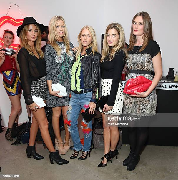 Millie Mackintosh Laura Whitmore Mary Charteris and Chelsea Leyland attend the Lulu Guinness The Lulu Perspective party during London Fashion Week...