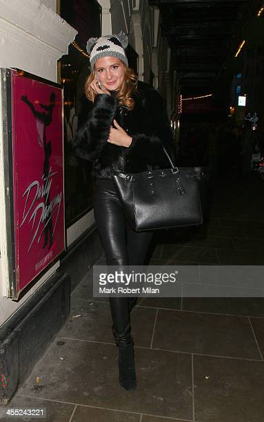 Millie Mackintosh leaving Dirty Dancing the musical on December 11 2013 in London England