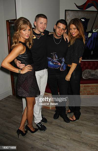 Millie Mackintosh Professor Green Example and Erin McNaught attend the launch of 'Green Thursdays' clubnight at INK on October 3 2013 in London...