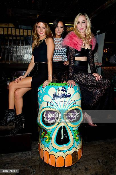 Millie Mackintosh Roxie Nafousi and Luisa Loveday attend the Loveday London Lingerie party at Tonteria on October 9 2014 in London England