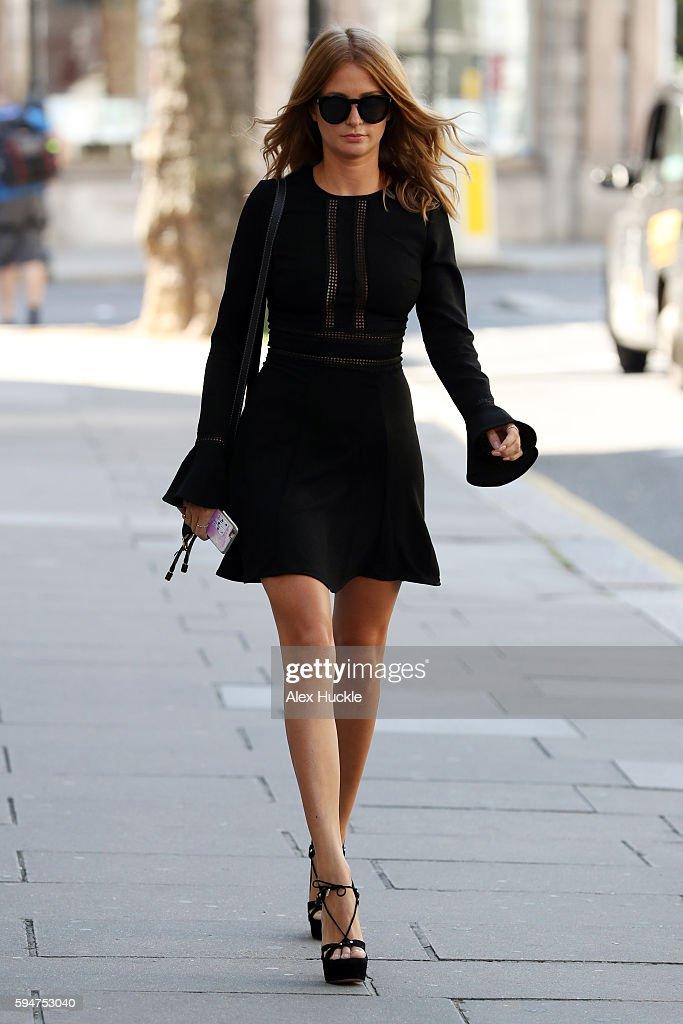 Millie Mackintosh seen leaving the Kensington Hotel on August 24 2016 in London England England