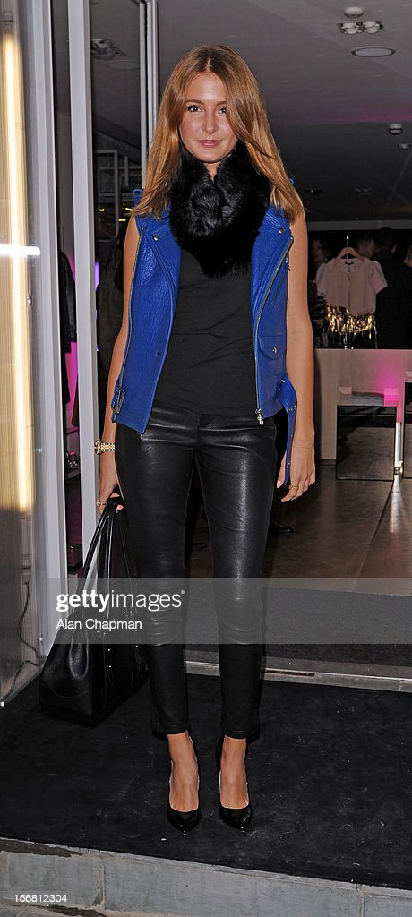 Millie Mackintosh sighting the Supertrash store launch on November 21, 2012 in London, England.