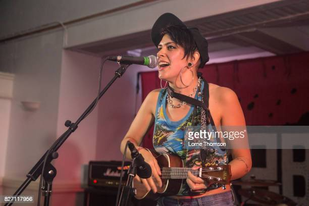 Millie Manders of Millie Manders And The Shut Up performs at Rebellion Festival at Winter Gardens on August 6 2017 in Blackpool England