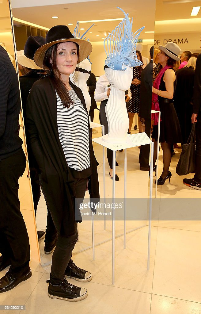 Milliner Emma Yeo attends 'Decades of Drama' at Fenwicks Bond Street on May 25, 2016 in London, England.