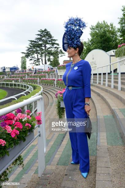 Milliner Ilda Di Vico attends day 3 of Royal Ascot at Ascot Racecourse on June 22 2017 in Ascot England