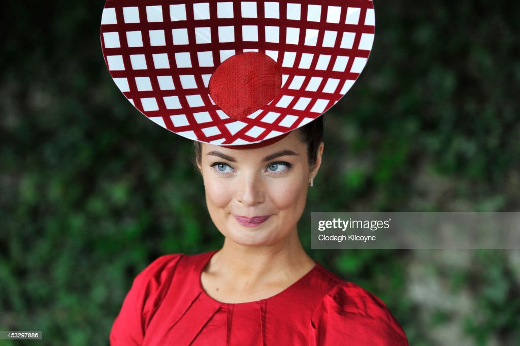 Milliner Martha Lynn attends Ladies Day at the Dublin Horse Show 2014 on August 7, 2014 in Dublin, Ireland.
