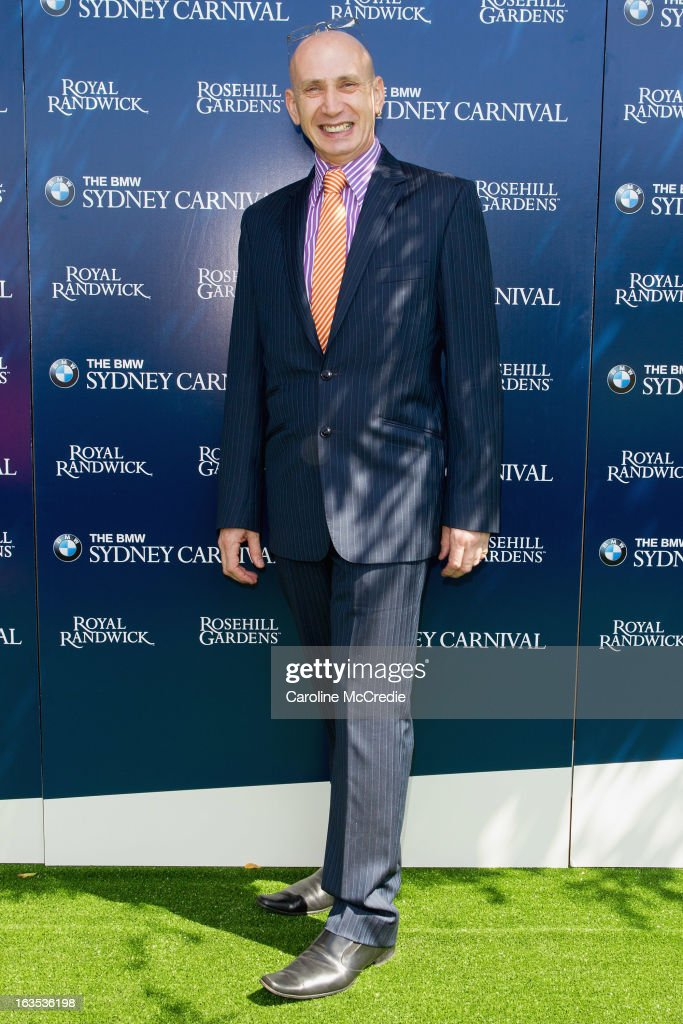Milliner Neil Grigg at the BMW Sydney Carnival launch at Centennial Park on March 12, 2013 in Sydney, Australia.