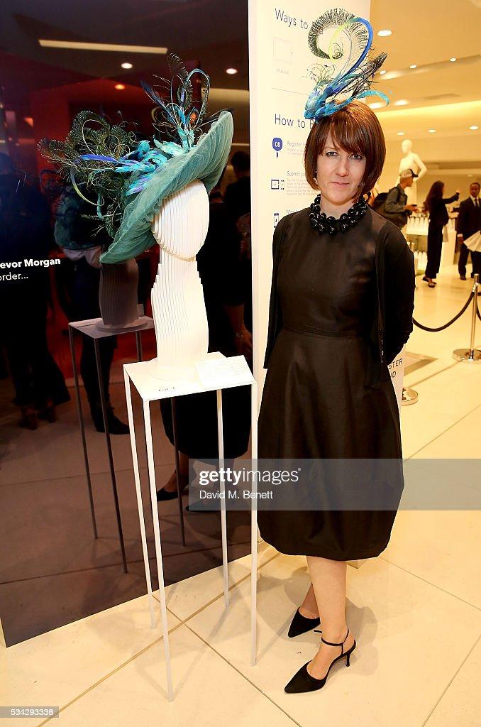Milliner Rachel Trevor-Morgan attends 'Decades of Drama' at Fenwicks Bond Street on May 25, 2016 in London, England.