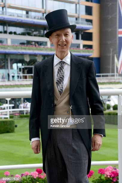 Milliner Stephen Jones attends day 3 of Royal Ascot at Ascot Racecourse on June 22 2017 in Ascot England