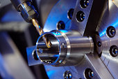 Close up of milling machine