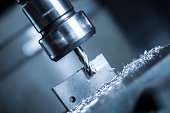 Close up of a milling machine in action