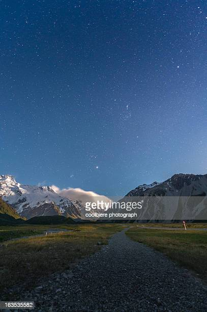 Million of Stars over Mt Cook national park