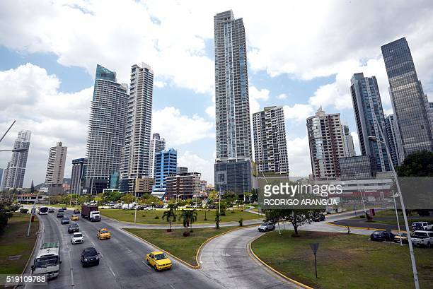 View of buildings in Panama City on April 4 2016 A massive leak coming from Mossack Fonseca of 115 million tax documents on Sunday exposed the secret...