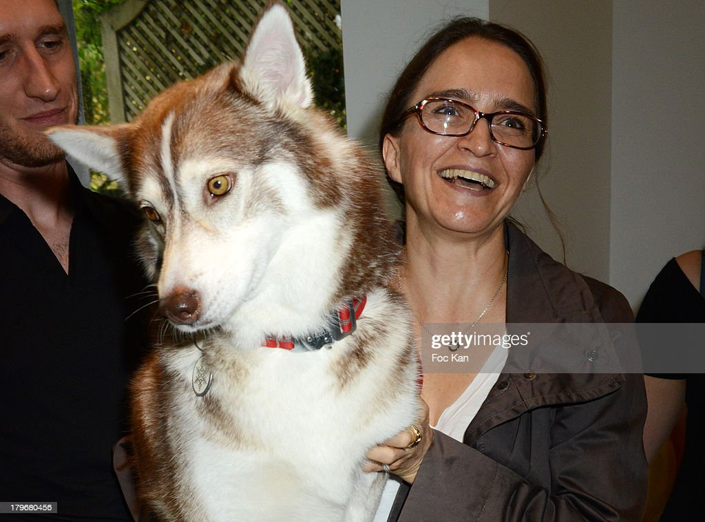 30 Millions dÓAmis Magazine Editor Katia Renard and dog Tallula attend the Duo Delice Dog Food Launch Party at 6 Mandel on September 6, 2013 in Paris, France.