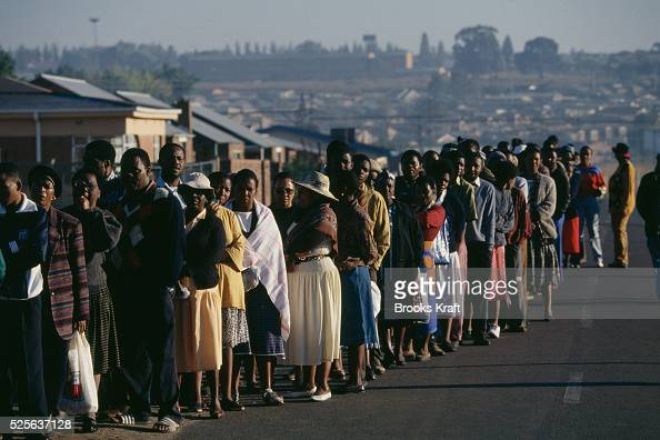 Millions of South Africans voted in the nation's first free and democratic general election marking the end of centuries of apartheid rule Nelson...