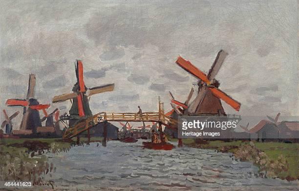 Mills at Westzijderveld near Zaandam 1871 Found in the collection of the Van Gogh Museum Amsterdam