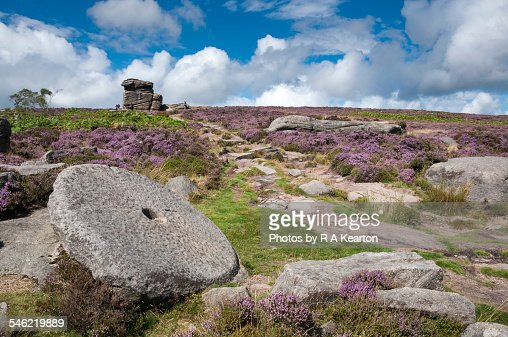 Millstone and mother cap derbyshire stock photo getty images