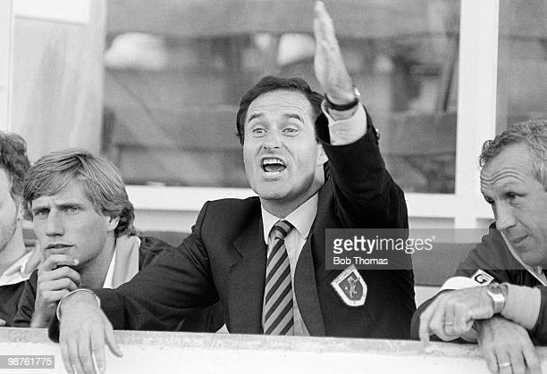 Millwall manager George Graham shouting instructions to his team during their match against Sheffield United at Bramall Lane Sheffield on 5th October...