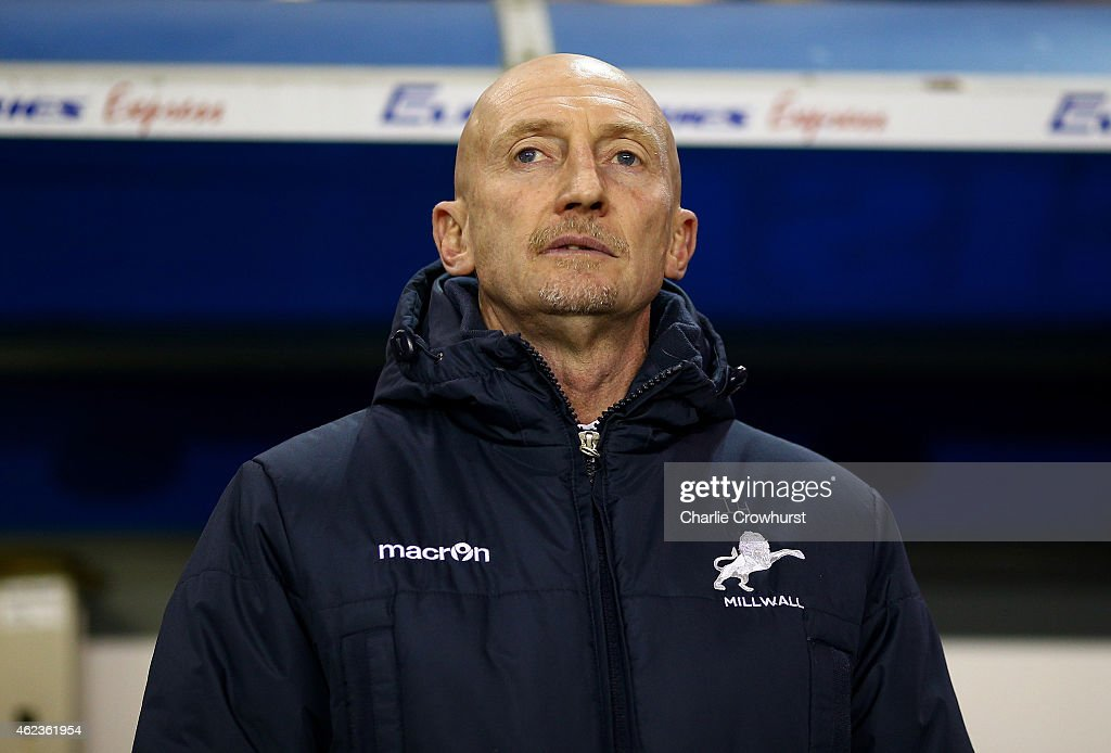 Millwall manager Ian Holloway looks on during the Sky Bet Championship match between Millwall and Reading at The Den on January 27 2015 in London...