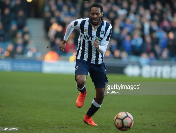 Millwall's Shaun Cummings during The Emirates FA Cup Fifth Round match between Millwall against Leicester City at The Den on February 18 2017 in...