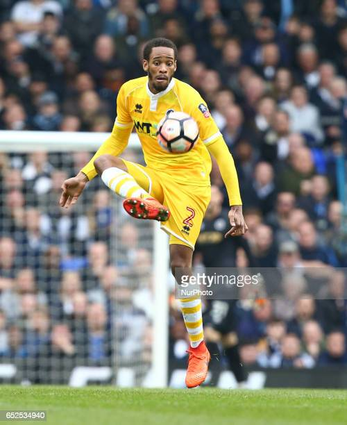 Millwall's Shaun Cummings during the The Emirates FA Cup Sixth Round match between Tottenham Hotspur and Millwall at White Hart Lane London England...