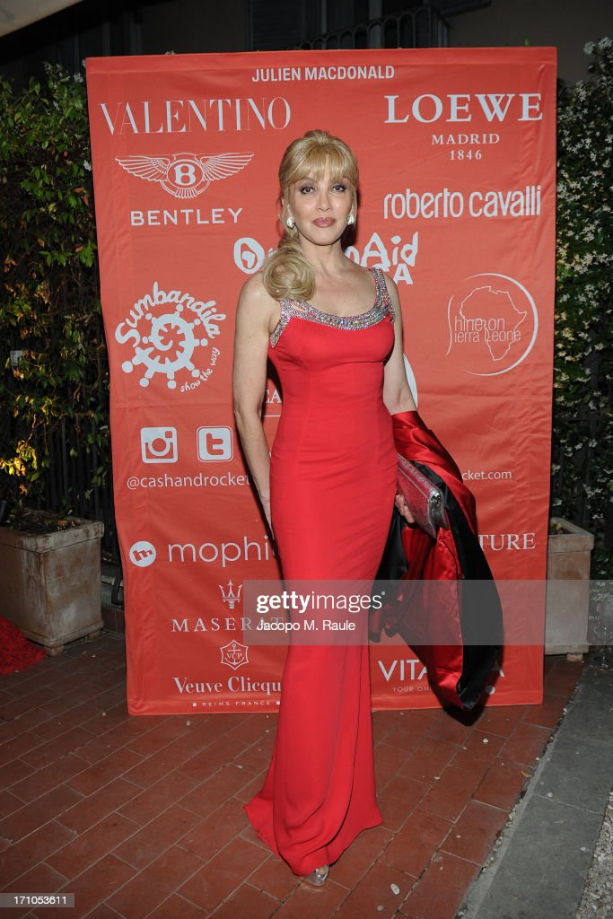 Milly Carlucci attends Cash & Rocket On Tour Women for Women - Gala Dinner and Auction on June 16, 2013 in Rome, Italy.
