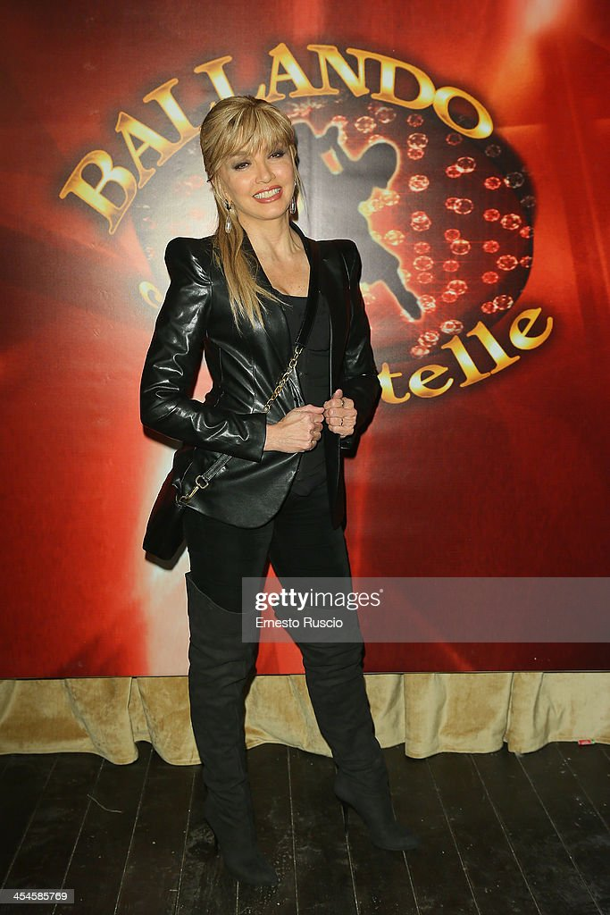 Milly Carlucci attends the 'Ballando con le stelle' 100th Episode Party at La Villa on December 9 2013 in Rome Italy