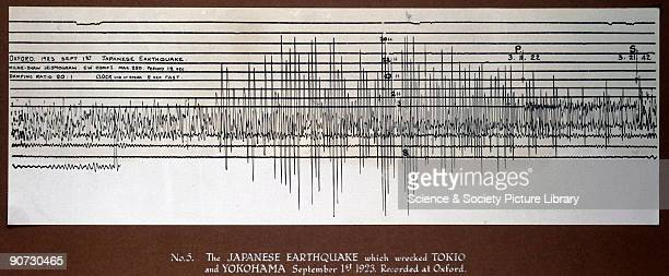 MilneShaw seismogram recorded at Oxford of the earthquake which struck Tokyo and Yokohama on 1st September 1923 The earthquake measuring 79 on the...