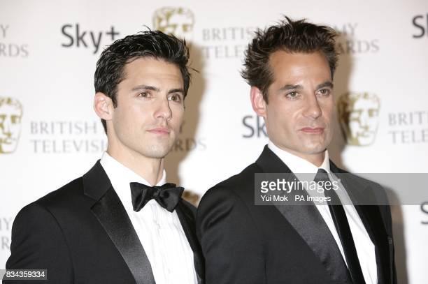 Milo Ventimiglia and Adrian Pasdar at the British Academy Television Awards at the London Palladium W1