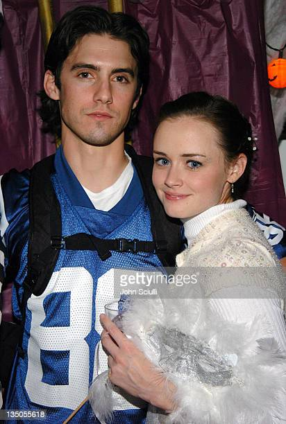 Milo Ventimiglia and Alexis Bledel at the SKYY Orange Party