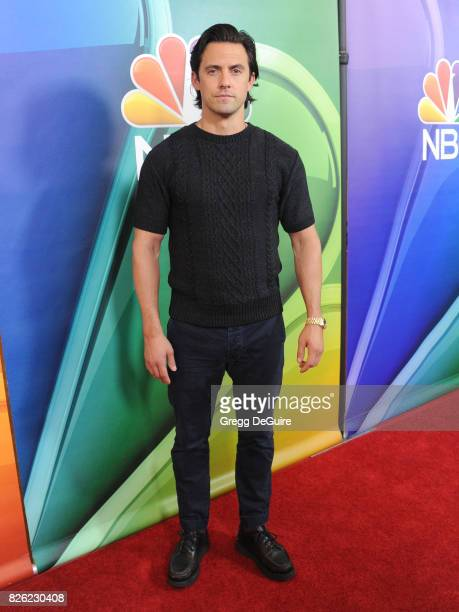 Milo Ventimiglia arrives at the 2017 Summer TCA Tour NBC Press Tour at The Beverly Hilton Hotel on August 3 2017 in Beverly Hills California