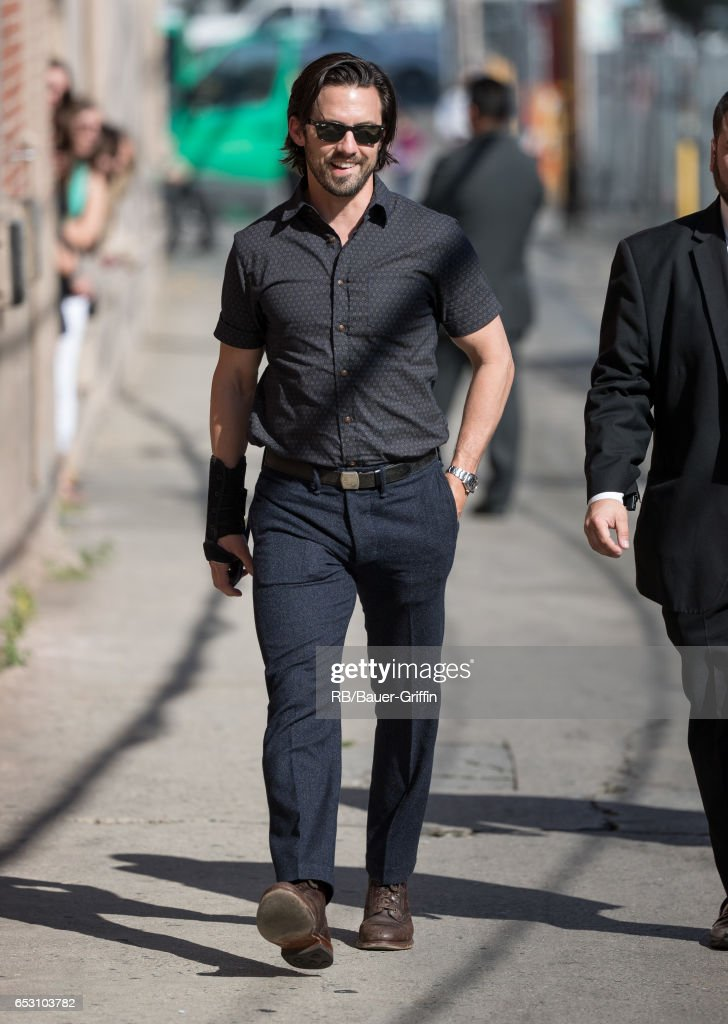 Milo Ventimiglia is seen at 'Jimmy Kimmel Live' on March 13, 2017 in Los Angeles, California.