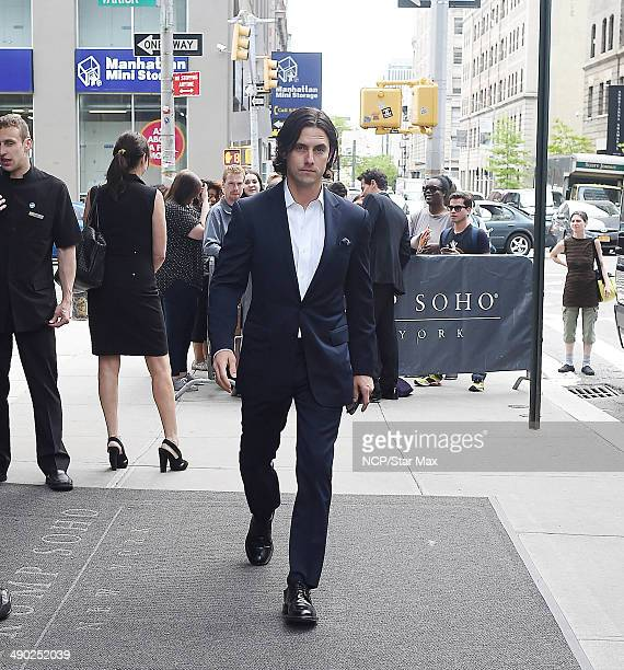 Milo Ventimiglia is seen on May 13 2014 in New York City