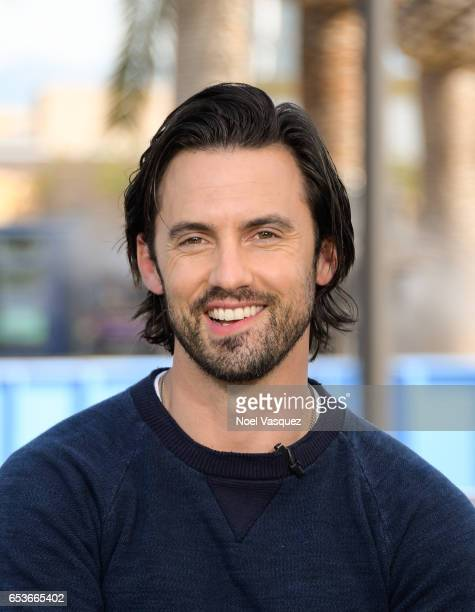 Milo Ventimiglia visits 'Extra' at Universal Studios Hollywood on March 15 2017 in Universal City California