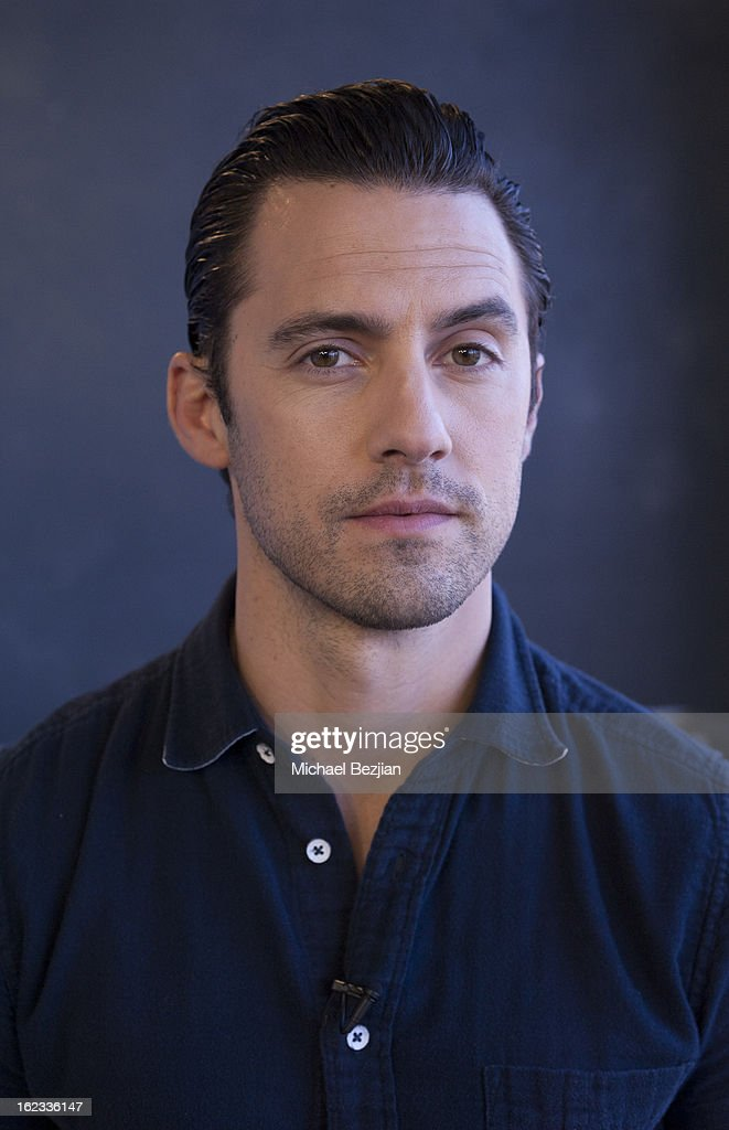 <a gi-track='captionPersonalityLinkClicked' href=/galleries/search?phrase=Milo+Ventimiglia&family=editorial&specificpeople=743960 ng-click='$event.stopPropagation()'>Milo Ventimiglia</a> Visits 'What's Trending' on February 21, 2013 in Hollywood, California.