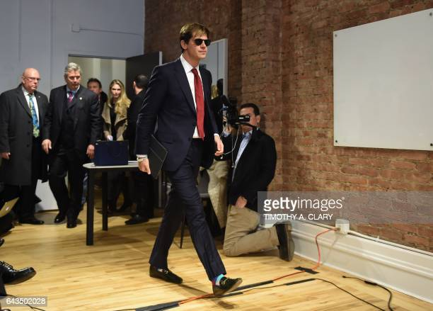 Milo Yiannopoulos arrives for a press conference in New York on February 21 2017 The conservative firebrand Milo Yiannopoulos resigned Tuesday from...