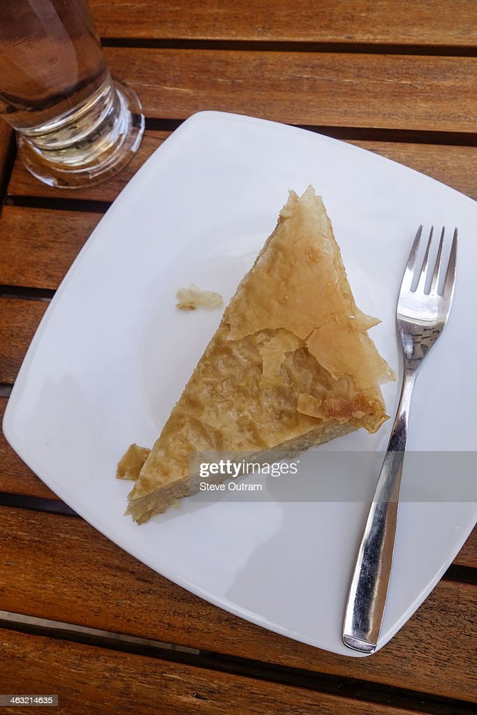 Milopita apple pie : Stock Photo